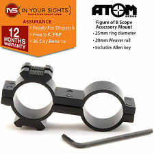 Figure of 8 torch / laser mount 25mm x 25mm Rifle scope flashlight bracket