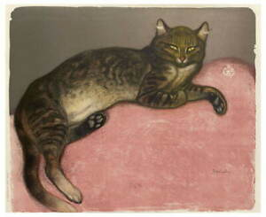 Theophile Alexandre Steinlen Cat On A Cushion Giclee Paper Print Poster