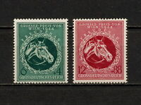 (YYAW 772) Germany 1944 MNH Mi 900 - 901 Sc B284 - B285 Nazi Race Horses