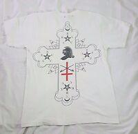 BLVCK SCVLE BLACK SCALE V Neck White Shirt Size Medium Made in USA