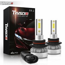 2pcs 9006 HB4 LED Headlight COB Chip Kit Hi/Lo Beam Power 6000K 55W Cool White
