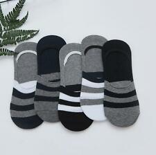 5 Pairs Fashion Men Socks Lot Crew Ankle Low Cut No Show striped Cotton Socks
