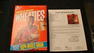 Michael Jordan AUTOGRAPHED UNOPENED 12 OZ WHEATIES BOX JSA COA  AND LETTER!