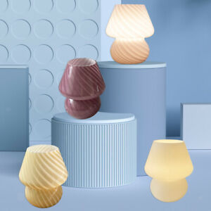 Hand Blown Glass Table Lamp Desk Lamp Night Light 8W for Bedroom Kids Room