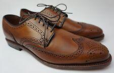 Allen Edmonds Stuttgart Wingtip Blucher Walnut Brown Leather Mens Size 9 D Shoes