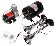 Drucklufthorn Fanfare mit Kompressor 6 bar 12 Volt LAUT VW T5 T4 Crafter Hupe
