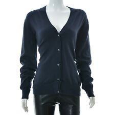 Lyle & Scott Womens Button Front Cardigan Ribbed Cuff/ Hem V-Neck long Sleeve XL
