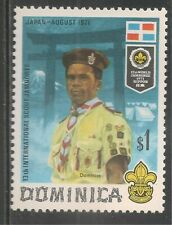 Dominica #327 (A42) SG #336 VF MNH 1971 $1 Dominican Boy Scout, Flag and Emblem