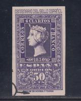 ESPAÑA (1950) USADO SPAIN - EDIFIL 1075 (50 cts) CENTENARIO - LOTE 1