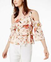 Rachel Zoe Silk Cold-Shoulder Top MSRP $325 Size 0 # 5C 752 NEW