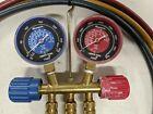 ROBINAIR 40174 HVAC AC Manifold R410a R404a R-22 Hoses Gauge Set Brass Fittings