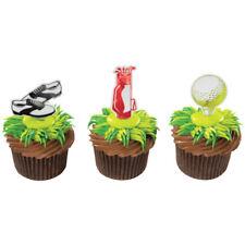Golf Ball Bag Shoes Golfer cupcake picks (24) favor cake topper 2 dozen