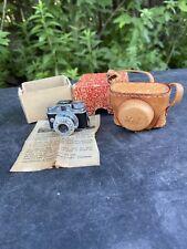 Vintage HIT Subminiature Spy Camera Leather Case Japan EXCELLENT CONDITION!