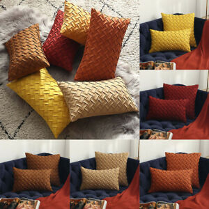 Cushion Cover Soft Faux Suede Home Decorative Pillow Cover Woven Pattern