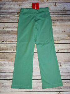 Nwt Hanna Andersson Girls play active size 110 5 Green Fold Over Yoga Pants NEW