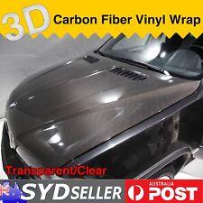 1.51M x 8M Clear Transparent Vinyl Film 3D Carbon Fiber Auto Van Body Protector