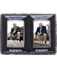 Zippo 28546 A Series In Time 2 Lighter Set Brushed Chrome