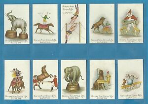 Lusby cigarette/cigar cards - SCENES FROM CIRCUS LIFE - Full mint condition set.