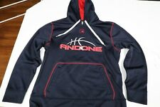 AND1 Men's Pullover Hoodie 100% Polyester Navy Size Medium