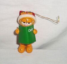 Vtg 1981 Dakin Wood Wooden Garfield Cat Jim Davis Christmas Ornament Caroler