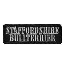 Wechselbarer Patch Aufnäher Klett Staffordshire Bullterrier Hunde Rasse Dogs Hau