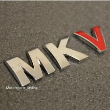 Mkv coche de cromo Rojo Bota Portón Trasero Emblema Insignia Autoadhesiva De Mk5 Mark 5 Logo Vw *