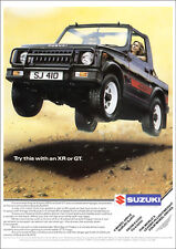 SUZUKI SJ410 SOFT TOP 4X4 RETRO A3 POSTER PRINT FROM 80'S ADVERT