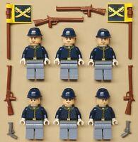 x6 NEW Lego Calvary Minifigs Cowboy Western Civil War Guys w/ GENERAL