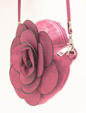 FUCHSIA COIN BAG YOUNG GIRL FASHION ACCESSORY FLOWER BAG ROSE COSMETIC PURSE