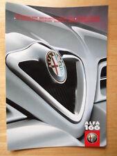 ALFA ROMEO 166 gamme 1998 1999 UK & les marchés de l'euro nuancier brochure