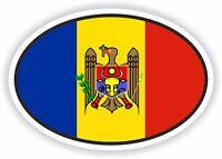 Moldova Flag oval STICKER bumper decal car helmet laptop