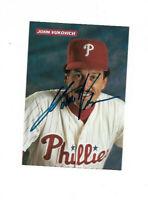 MLB BASEBALL JOHN VUKOVICH HAND SIGNED AUTOGRAPHED 4X6 PHOTO WITH COA