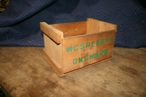 Vintage Wooden Apple Crate  McSherry 's Orchard