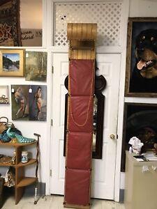 "Vintage Wooden Toboggan All Original Fabulous 94"" X 14"" Made In Canada"