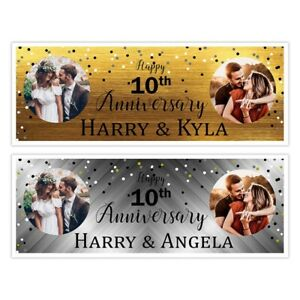 WEDDING ANNIVERSARY PHOTO PICTURES PARTY COUPLES  BANNERS WALL DECORATIONS