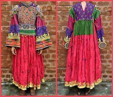 Afghan Nomad Boho Tribal Ethnic Banjara dress Floral 60s 70s Vintage Kuchi Dress