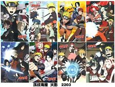 8 pcs Anime Naruto Shippuden Characters High Quality Print Poster Pack #2203