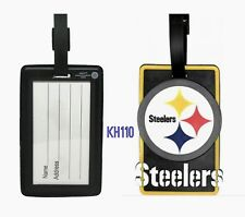 NFL Pittsburgh Steelers Soft Luggage Bag Tags /Gym bag / Golf bag