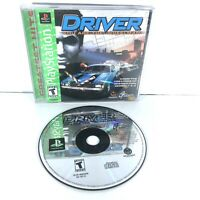 Driver (Sony PlayStation 1, 1999) Complete W/ Manual + Registration Card E1