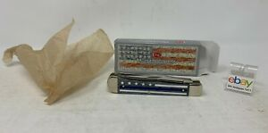Case Cutlery USA Stripes of Service Thin Blue Line Knife - Trapper - New In Box!