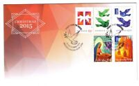 "2015 FDC. Australia. Christmas. Dove PictFDI ""MERRYLANDS"""