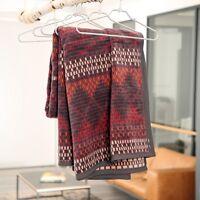 IBENA Multi Reversible Jacquard Woven Cotton Blend Velour Throw Blanket Manama