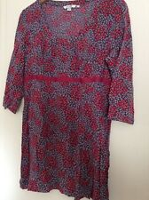 Boden tunic UK 16 floral pink and purple viscose