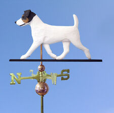 Jack Russell Terrier Hand Carved Hand Painted Basswood Dog Weathervane Tri