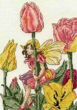 DMC FLOWER FAIRIES THE TULIP FAIRY COUNTED CROSS STITCH KIT BL1005/56