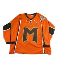 Kansas City KC Mavericks Hockey Jersey Youth XL Shirt Lace Up CCM ECHL Orange