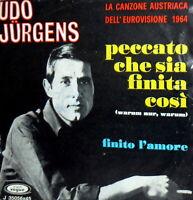 UDO JURGENS AUTOGRAPH ( Warum Nur Warum) Peccato sia finita cosi EUROVISION 1964