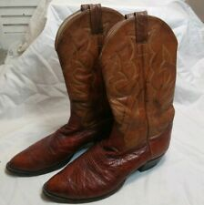 Ostrich Boots Mens 13 Full Quill Handmade USA Cat's Paw Cowboy Western