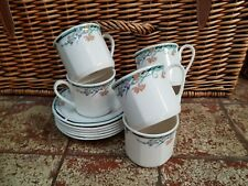 6 ROYAL DOULTON JUNO CUPS & SAUCERS
