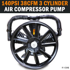 38CFM 3 CYLINDER FULL CAST IRON AIR COMPRESSOR PUMP, 140PSI